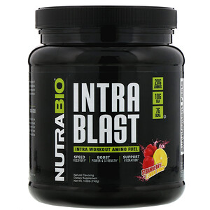 NutraBio Labs, Intra Blast, Intra Workout Amino Fuel, Strawberry Lemon Bomb, 1.63 lb (740 g) отзывы