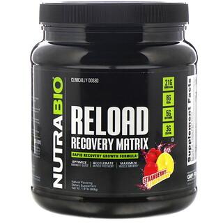 NutraBio Labs, Reload Recovery Matrix, Strawberry Lemon Bomb, 1.91 lb (868 g)