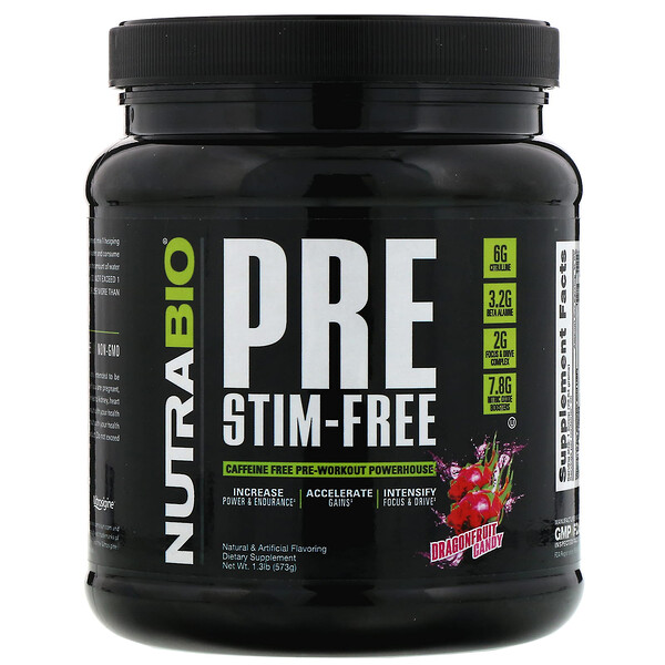 PRE-Workout, Stim-Free, Dragonfruit Candy,  1.3 lb (573 g)