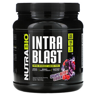 NutraBio Labs, Intra Blast, Intra Workout Amino Fuel, Grape Berry Crush, 1.6 lb (722 g)