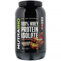 NutraBio Labs, 100% Whey Protein Isolate,  Bourbon Banana Nut, 2 lb (907 g)