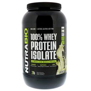 NutraBio Labs, 100% Whey Protein Isolate, Alpine Vanilla, 2 lbs (907 g) отзывы