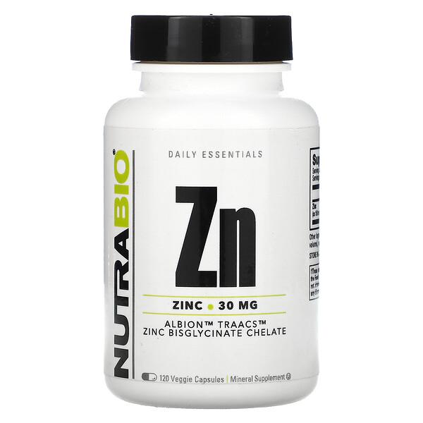 Zn, Zinc, 30 mg, 120 Veggie Capsules
