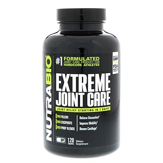 NutraBio Labs, Extreme Joint Care, 120 Vegetable Capsules