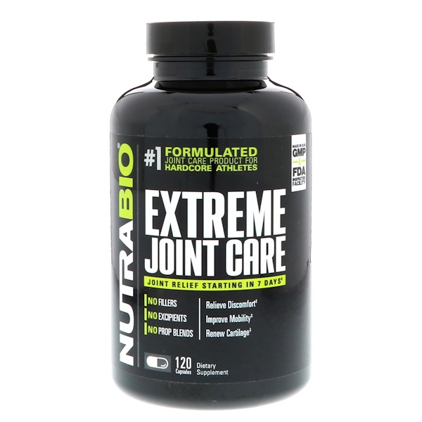 NutraBio Labs, Extreme Joint Care, 120 Vegetable Capsules (Discontinued Item)