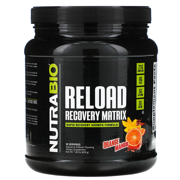 Reload Recovery Matrix, Orange Mango, 1.84 lb (831 g)