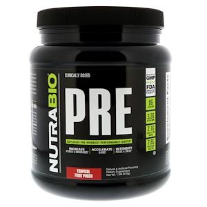NutraBio Labs, PRE-Workout, Tropical Fruit Punch, 1.3 lb (570 g) отзывы