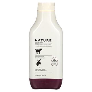 Nature by Canus, Fresh Goat Milk, Silky Body Wash, Original, 16.9 fl oz (500 ml)