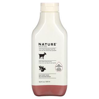 Nature by Canus, Fresh Goat Milk, Silky Body Wash, Shea Butter, 16.9 fl oz (500 ml)