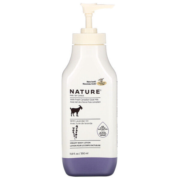 Fresh Goat Milk, Creamy Body Lotion, Lavender Oil, 11.8 fl oz (350 ml)