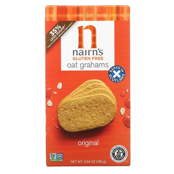 Nairn's, Gluten Free, Oatmeal Grahams, Original, 5.64 oz (160 g)