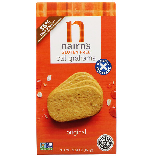 Nairn's, Gluten Free, Oatmeal Grahams, Original, 5.64 oz (160 g) (Discontinued Item)