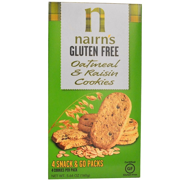 Nairn's, Gluten Free Oatmeal & Raisin Cookies, 5.64 oz (160 g) (Discontinued Item)