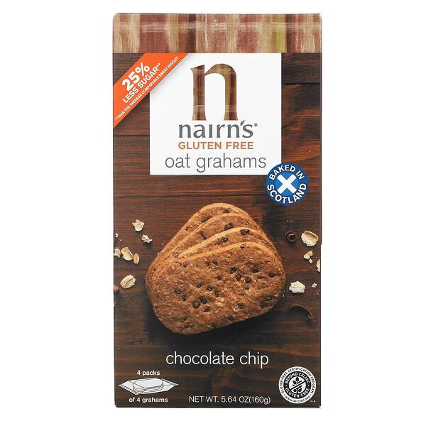 Nairn's, Oat Grahams, Gluten Free, Chocolate Chip, 5.64 oz (160 g)