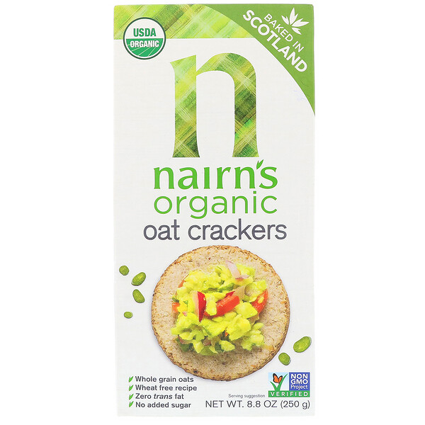 Nairn's Inc, Organic Oat Crackers, 8.8 oz (250 g)
