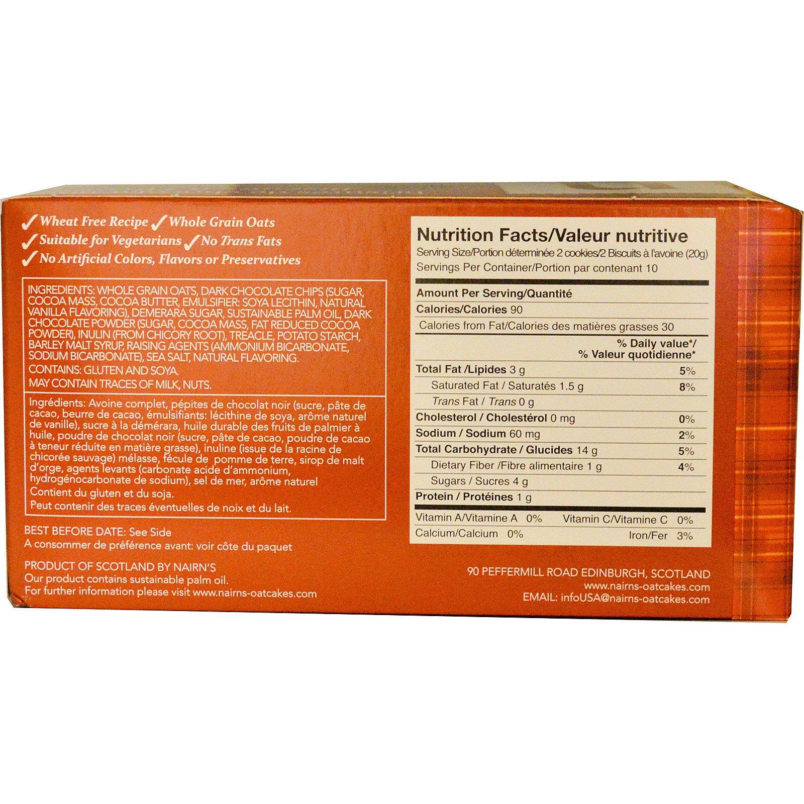 Nairn's Inc, Oat Cookies, Dark Chocolate Chip, 7 1 oz (200 g