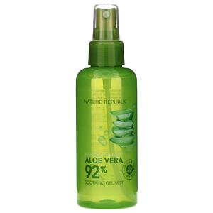 Натуре Републик, Aloe Vera Soothing Gel Mist, 5.07 fl oz (150 ml) отзывы покупателей