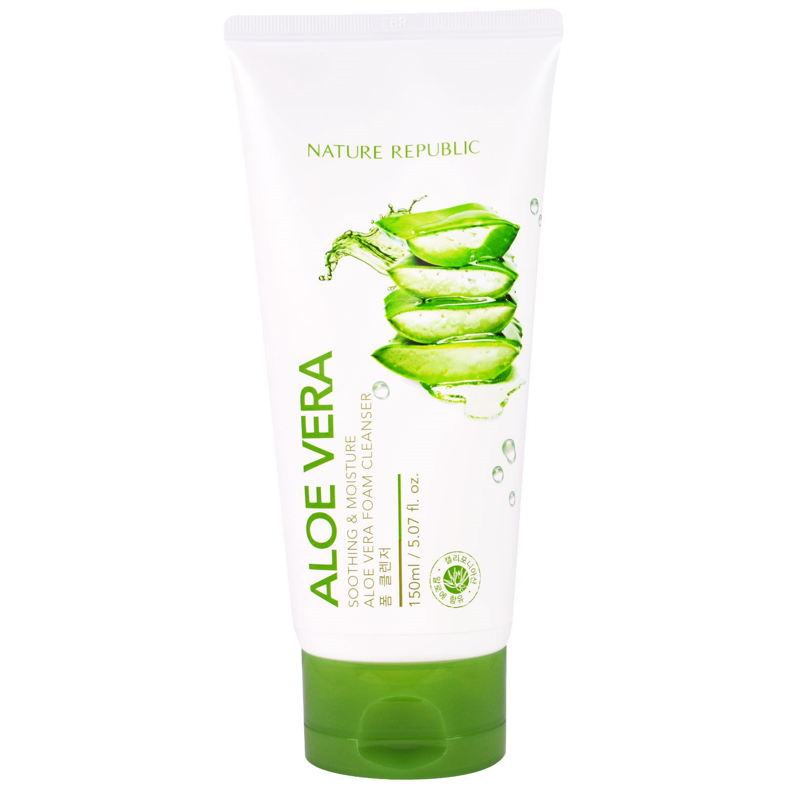 Nature Republic, Aloe Vera, Soothing & Moisture Aloe Vera Foam Cleanser, 5.07 fl oz (150 ml) (Discontinued Item)