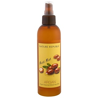 Nature Republic, Argan Essential Moist Hair Mist, 7.44 fl oz (220 ml)