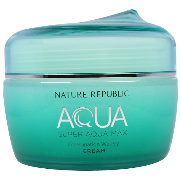 Nature Republic, Aqua, Super Aqua Max, Combination Watery Cream, 2.70 fl oz (80 ml) (Discontinued Item)
