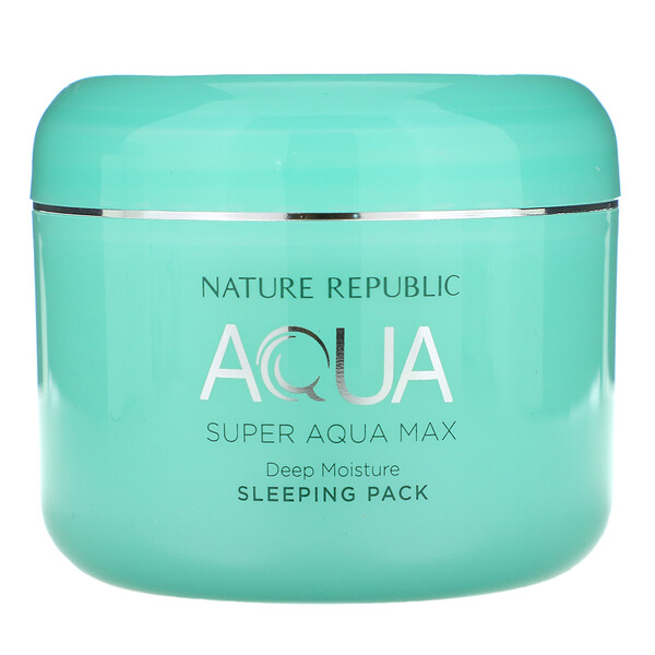 Super Aqua Max, Deep Moisture Sleeping Pack, 3.38 fl oz (100 ml)