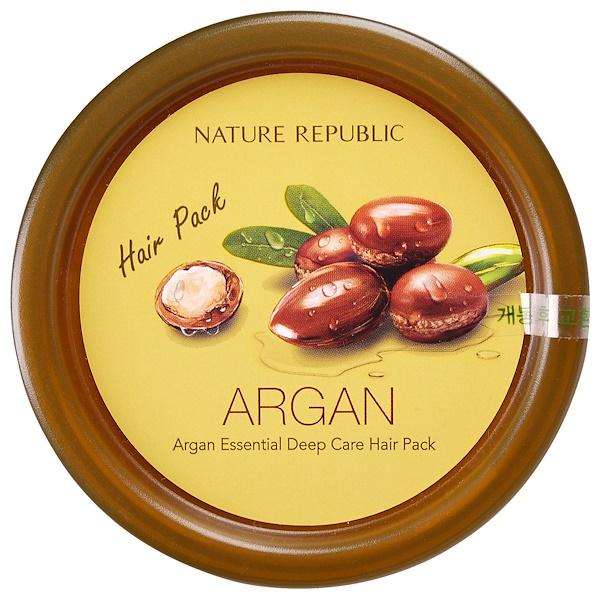 Nature Republic, Argan Essential Deep Care Hair Pack, 12 oz (Discontinued Item)