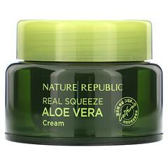 Nature Republic, Real Squeeze,蘆薈保濕霜,1.69 液量盎司(50 毫升)