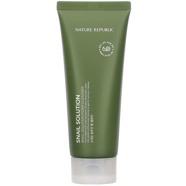 Nature Republic, Snail Solution, Foam Cleanser, 5.07 fl oz (150 ml)