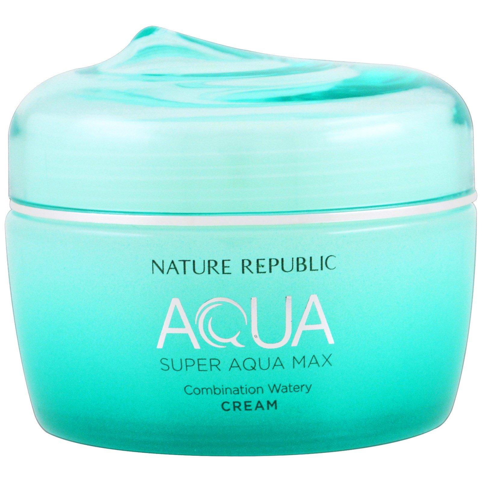 Nature Republic, Аква, Супер Аква Макс, комбинированный водянистый крем, 80 мл (2,70 жидк. унц.)