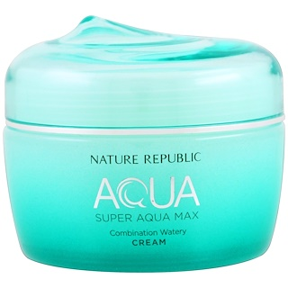 Nature Republic, Aqua, Super Aqua Max, Combination Watery Cream, 2.70 fl oz (80 ml)