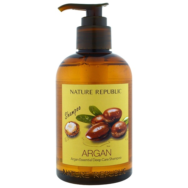 Nature Republic, アルガン・エッセンシャル・ディープケアシャンプー、10.13液量オンス (300 ml) (Discontinued Item)