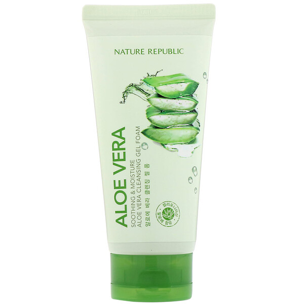 Nature Republic, Soothing & Moisture Aloe Vera Cleansing Gel Foam,  5.07 fl oz (150 ml)