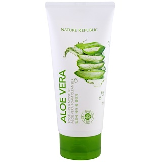 Nature Republic, Aloe Vera, Soothing & Moisture Aloe Vera Foam Cleanser, 5.07 fl oz (150 ml)