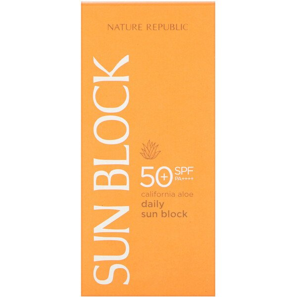 Nature Republic, Daily Sun Block, California Aloe, SPF 50 PA++++, 1.92 fl oz (57 ml)