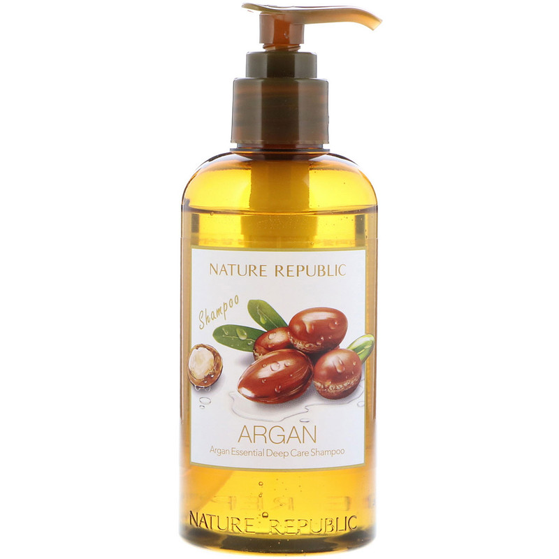 Nature Republic, 阿甘油精華深層護理洗髮水,10.13液盎司(300毫升)
