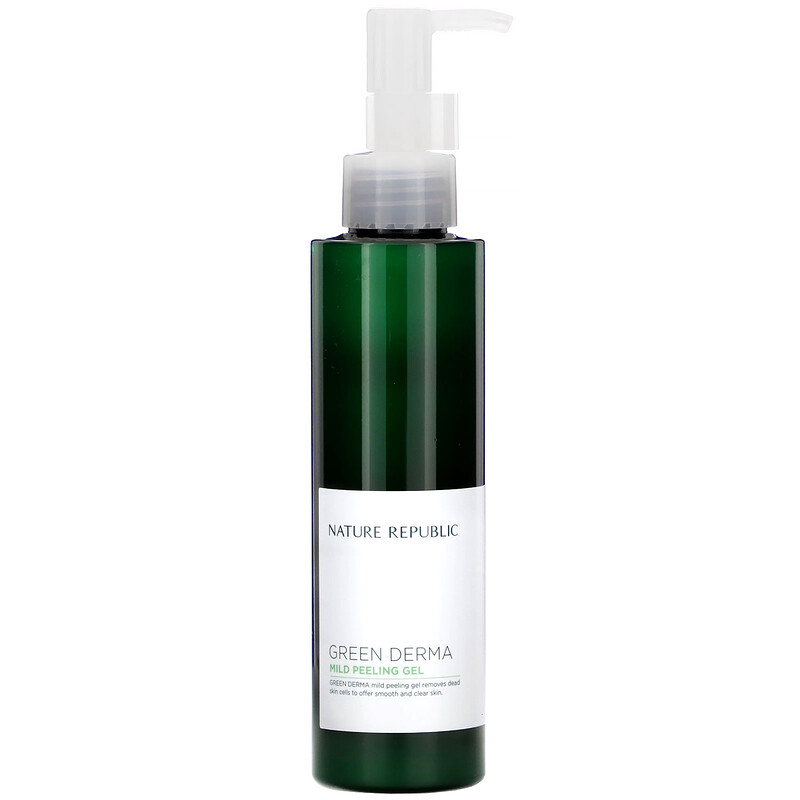 Nature Republic, Green Derma 系列溫和去角質凝膠,5.07 液量盎司(150 毫升)