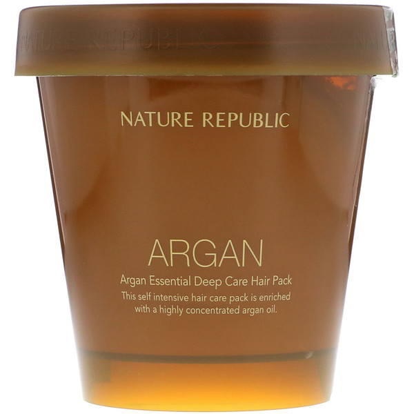 Nature Republic, Argan Essential Deep Care Hair Pack, 200 ml