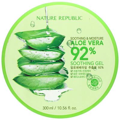 Купить Nature Republic Soothing & Moisture Aloe Vera 92% Soothing Gel, 10.56 fl oz (300 ml)