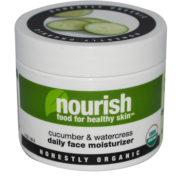 Nourish Organic, Organic, Daily Face Moisturizer, Cucumber & Watercress, 2 oz (59 g) (Discontinued Item)