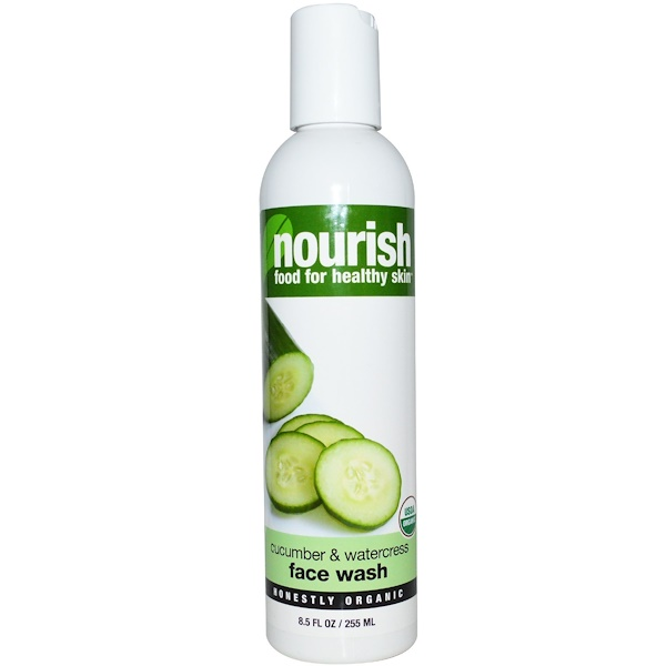Nourish Organic, Face Wash, Cucumber and Watercress, 8.5 fl oz (255 ml) (Discontinued Item)