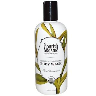 Nourish Organic, ボディウォッシュ、純粋無香料、10液量オンス(295 ml)