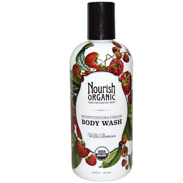 Nourish Organic, Body Wash, Wild Berries, 10 fl oz (295 ml) (Discontinued Item)