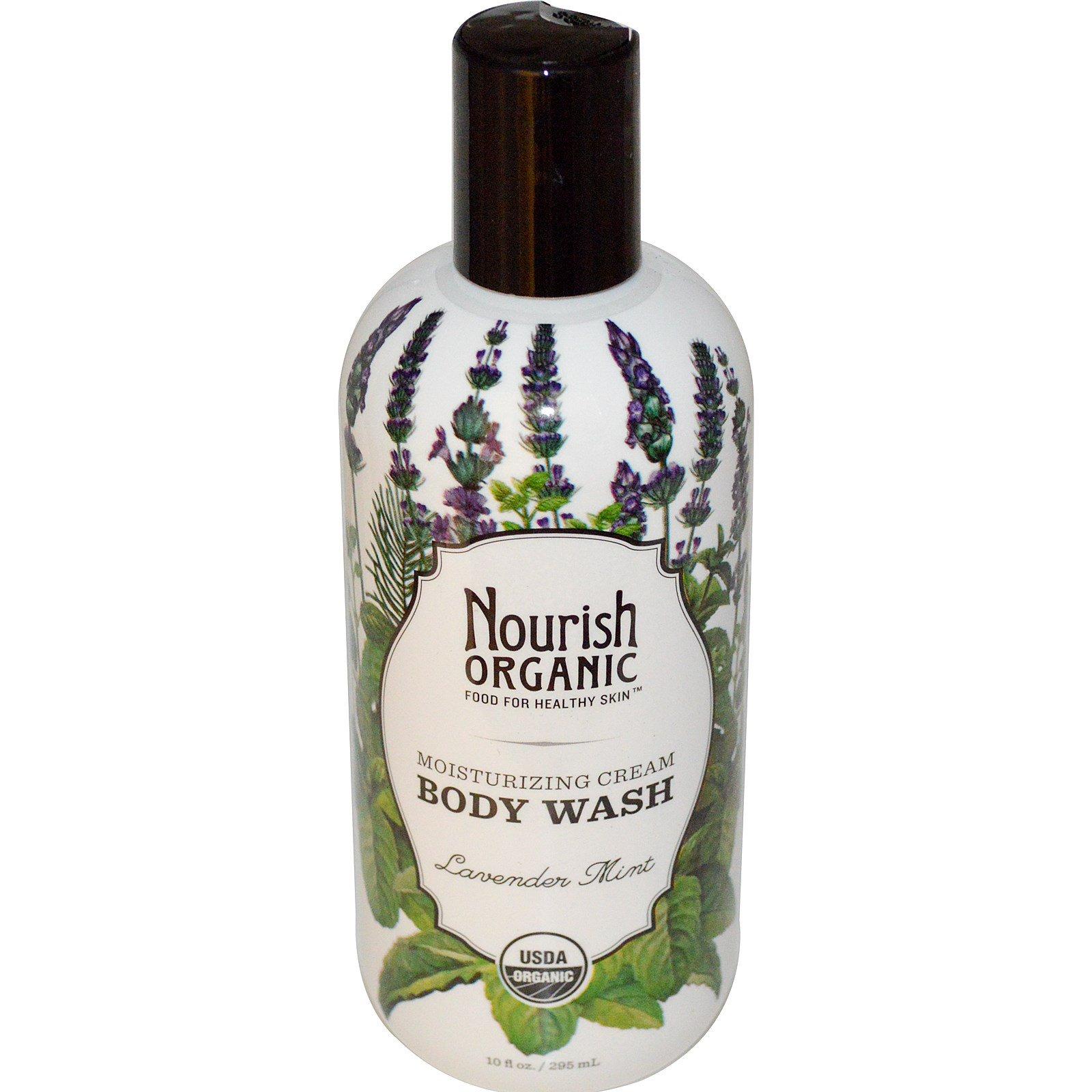 Nourish Organic, Гель для душа, лаванда и мята, 295 мл (10 жидких унций)