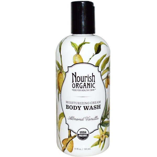 Nourish Organic, Body Wash, Almond Vanilla, 10 fl oz (295 ml) (Discontinued Item)