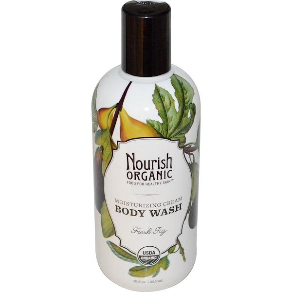 Nourish Organic, Body Wash, Fresh Fig, 10 fl oz (295 ml) (Discontinued Item)