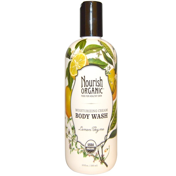 Nourish Organic, Moisturizing Cream Body Wash, Lemon Thyme, 10 fl oz (295 ml) (Discontinued Item)