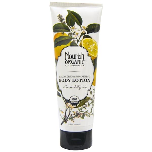 Nourish Organic, Body Lotion, Lemon Thyme, 8 fl oz (236 ml) (Discontinued Item)