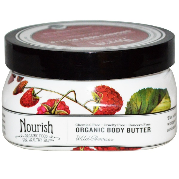 Nourish Organic, Body Butter, Wild Berries, 3.6 oz (102 g) (Discontinued Item)