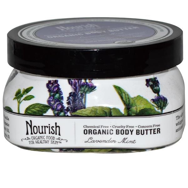 Nourish Organic, Body Butter, Lavender Mint, 3.6 oz (102 g) (Discontinued Item)