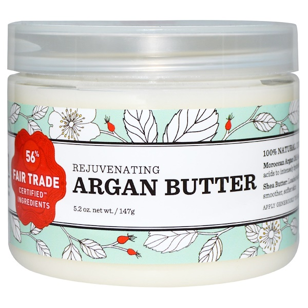 Nourish Organic, Rejuvenating Argan Butter, 5、2 oz (147 g)